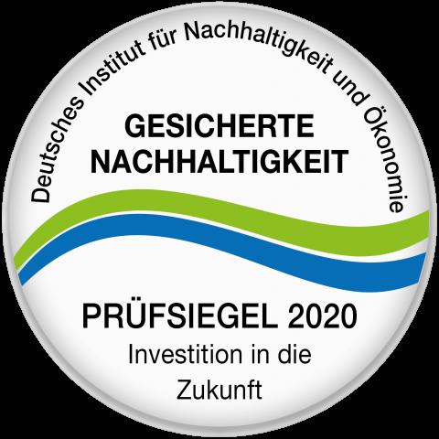Siegel für Nachhaltigkeit 2020